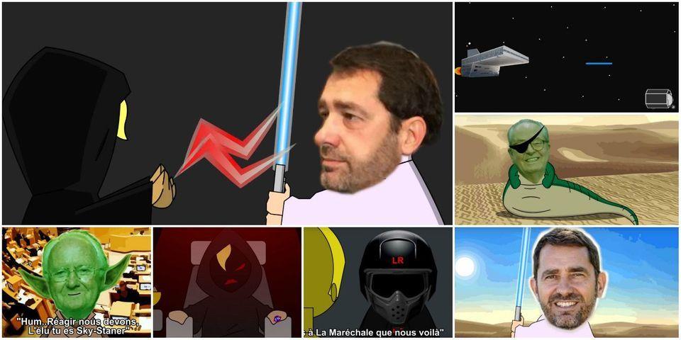 VIDÉO - La parodie de Star Wars totalement WTF avec Marion Le Pen, Christian Estrosi et Christophe Castaner