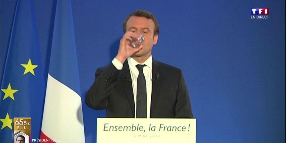 """VIDÉO - La première image du Président Macron est un bon gros fail : """"déroule le prompteur"""""""