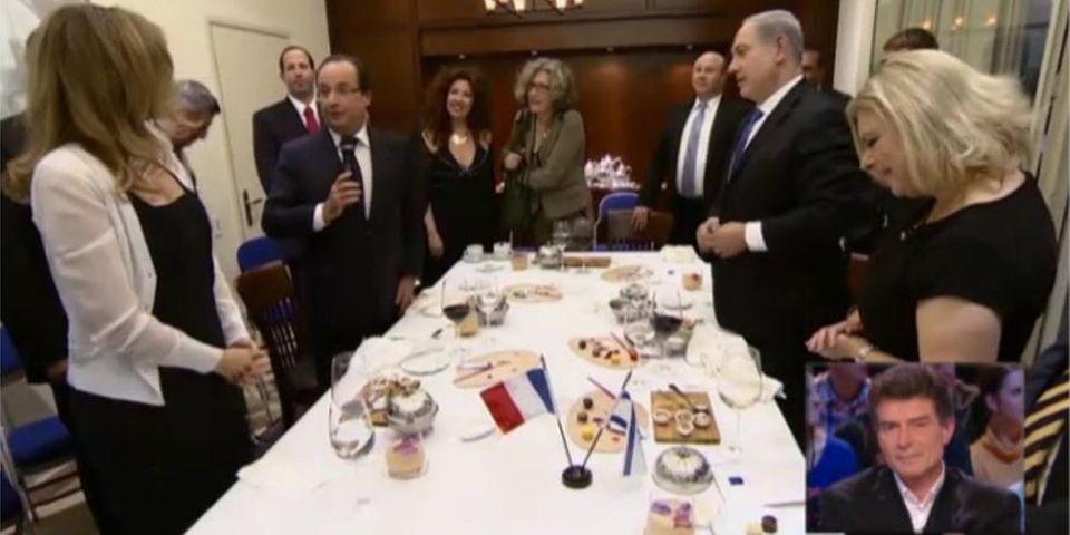 """Vidéo : le """"chant d'amour"""" de François Hollande à Benyamin Netanyahou"""