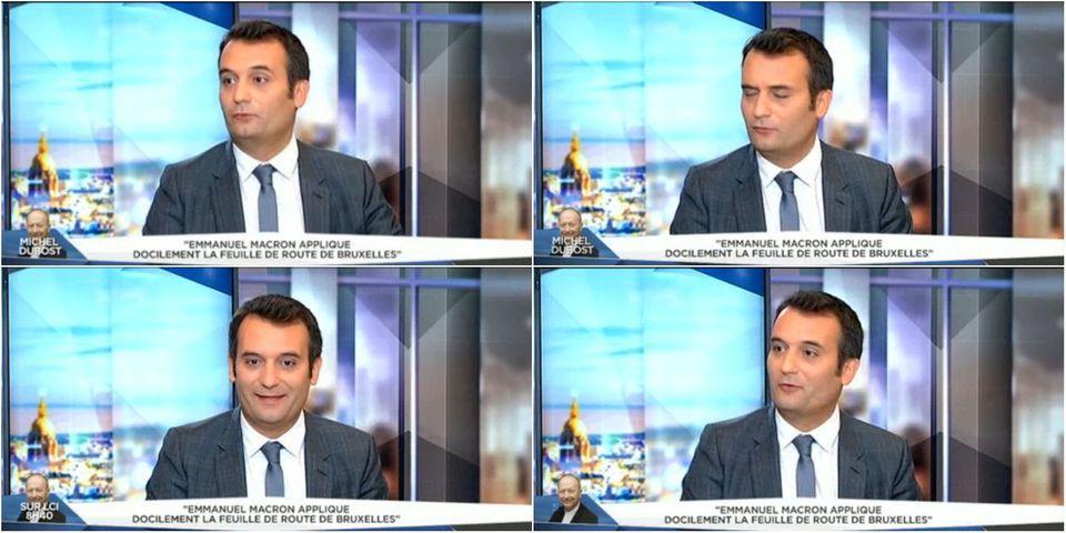 """VIDÉO – Le lapsus de Florian Philippot qui n'a """"jamais contesté"""" que le discours du FN n'est plus audible à cause de Marine Le Pen"""