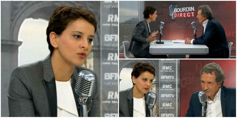VIDÉO - Le très long silence de Najat Vallaud-Belkacem pour éviter de commenter les sorties d'Emmanuel Macron