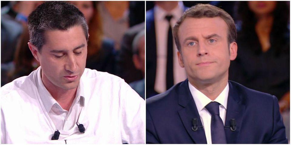 """VIDÉO - L'énorme scud de Macron à Hollande qui ne veut pas aller """"sur un camion"""" pour dire qu'une entreprise ne va pas fermer"""