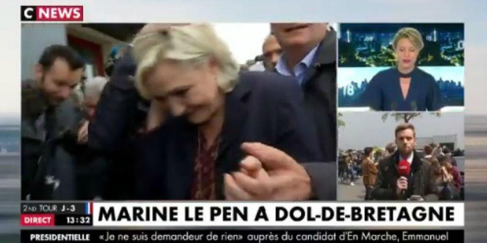 VIDÉO – Marine Le Pen visée par des jets d'œufs à son arrivée en Bretagne