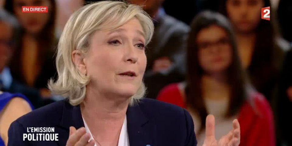 VIDÉO – Marine Le Pen vous offre une minute de grand n'importe quoi sur la laïcité