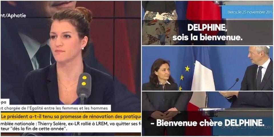 """VIDÉO - Marlène Schiappa fustige le """"sexisme ordinaire"""" de Bruno Le Maire et Benjamin Griveaux envers Delphine Gény-Stéphann"""