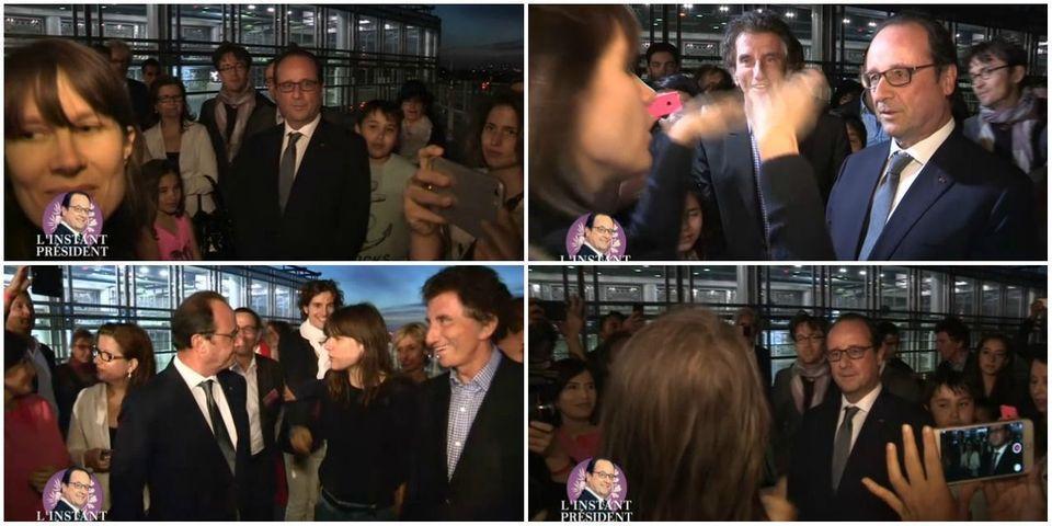 [VIDEO] Moment gênant pour François Hollande à la fête de la musique avec la chanteuse Camille