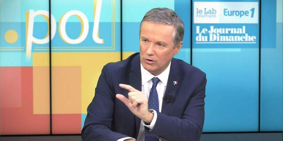 """VIDÉO - Moqué mais jamais invité, Nicolas Dupont-Aignan juge Quotidien """"totalitaire"""""""