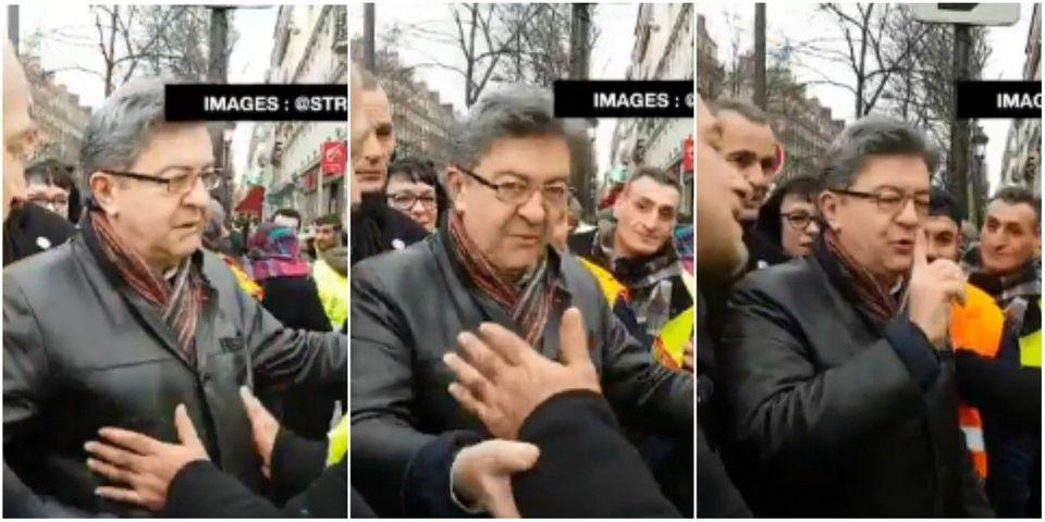 """VIDÉO - """"Personne me touche"""" : Jean-Luc Mélenchon outré par un contrôle de sécurité dans une manif"""