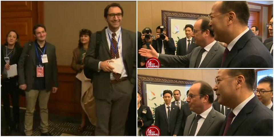 VIDÉO - Quand François Hollande blague, en Chine, sur la liberté de la presse