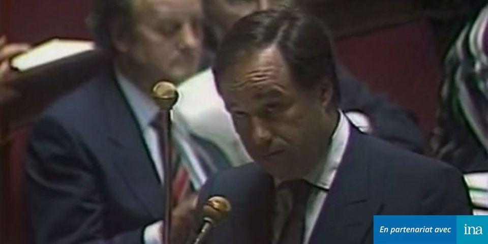 VIDÉO – quand Jean-Michel Baylet, secrétaire d'Etat du gouvernement Fabius, répondait à une question au gouvernement en 1985