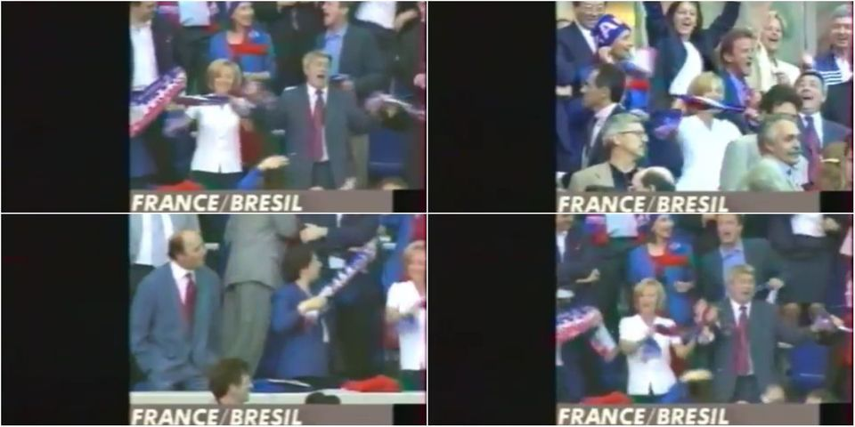 VIDÉO - Quand les ministres socialistes dansaient sur Claude François en tribunes avant France-Brésil en 1998