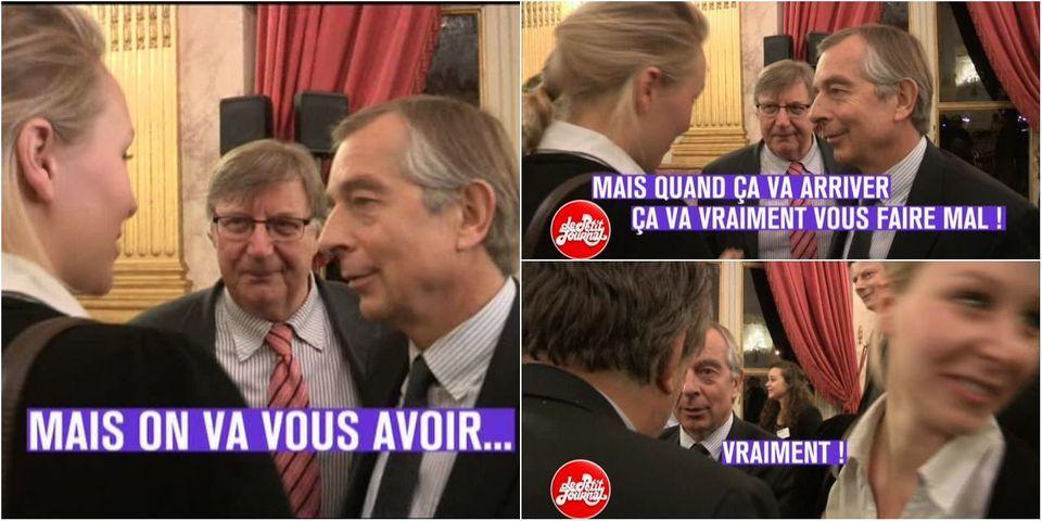 """VIDÉO - Quand Marion Maréchal - Le Pen menace le journaliste Gilles Leclerc : """"On va vous avoir. Mais quand ça va arriver, ça va vraiment vous faire mal !"""""""