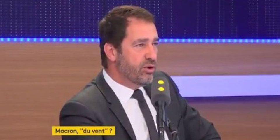 VIDÉO - Selon Castaner, ceux qui sont partis du meeting de Macron à Marseille avant la fin étaient des militants LR (ou des fans de l'OM)