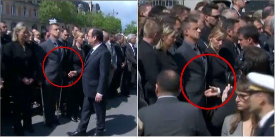 VIDÉO - Un policier refuse de serrer la main de Hollande et Valls pendant l'hommage aux policiers tués à Magnanville
