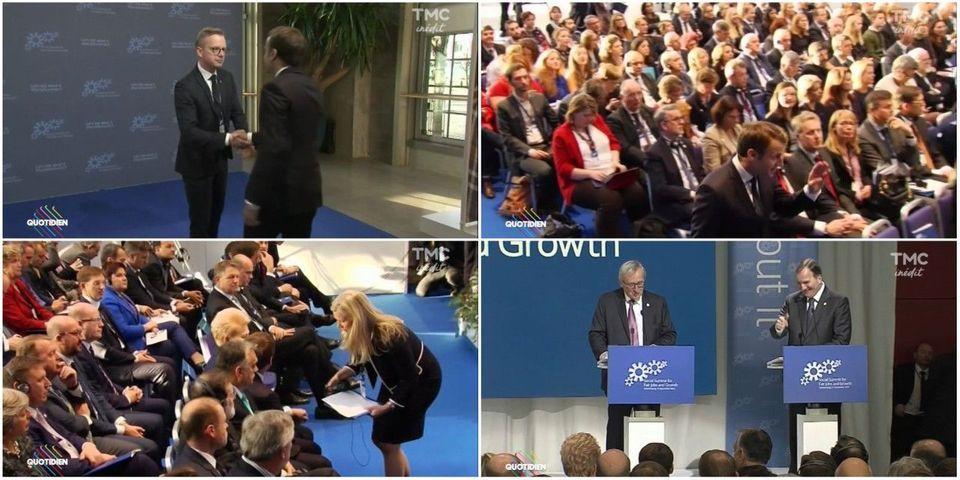 VIDÉOS – Quand Macron se fait rappeler à l'ordre au sommet social européen à Göteborg