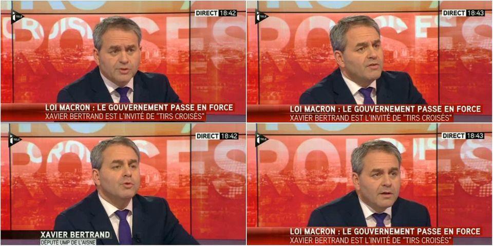 """Xavier Bertrand invite les frondeurs et les Verts à voter la motion de censure contre le gouvernement au nom de leur """"cohérence"""""""