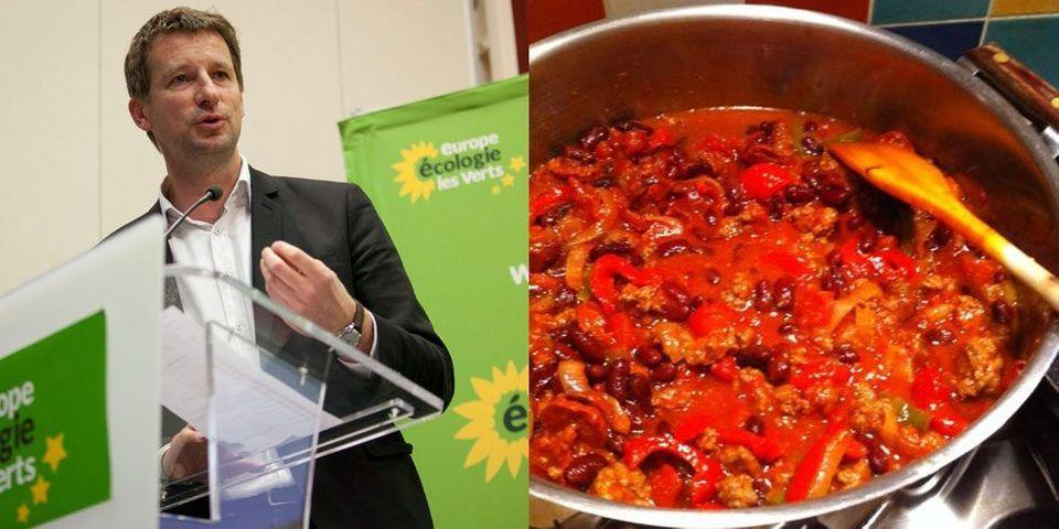 Yannick Jadot mécontent du chili con carne de Cécile Duflot